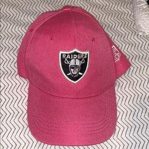 Women's Oakland Raiders pink cancer awareness hat